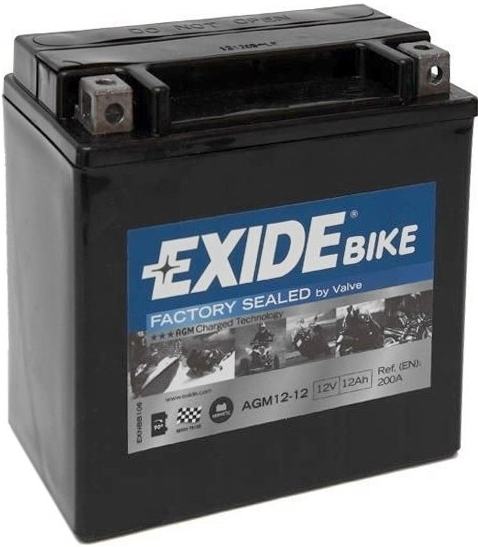 Exide Bike Factory Sealed 12V, 12Ah, AGM12-12