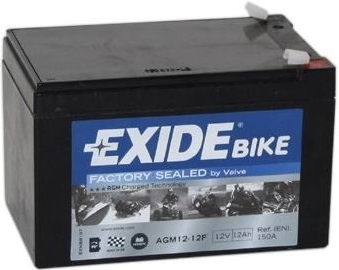 Exide Bike Factory Sealed 12V, 12Ah, AGM12-12F