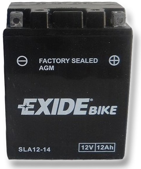 Exide Bike Factory Sealed 12V, 12Ah, AGM12-14