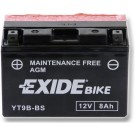 Exide Bike Maintenance Free 12V, 8Ah, YT9B-BS