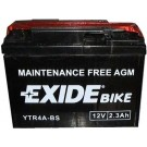 Exide Bike Maintenance Free 12V, 2,3Ah, YTR4A-BS
