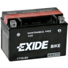 Exide Bike Maintenance Free 12V, 8Ah, YTX9-BS